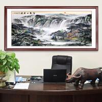 富春山居图钻画客厅满钻大幅3米山水风景办公室贴钻十字绣