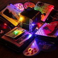 20180922072758002爆炸盒子diy相册配件装饰彩灯串灯水滴灯玫瑰灯有趣盒子材料