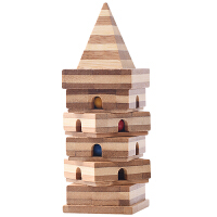 竹子金字塔孔明锁解环解锁科教玩具创意木质木玩