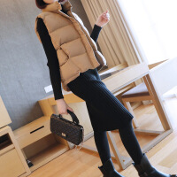 韩版短款女装棉衣马甲2017冬季新款时尚百搭无袖羽绒背心外套 均码