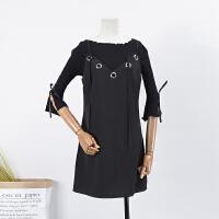 【满】13 秋季时尚吊带短裙韩版纯色修身无袖连衣裙 C