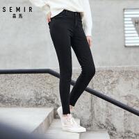 森马牛仔裤女2018秋季新款女生修身小脚紧身裤学生显瘦韩版裤子