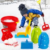 决明子玩具沙挖套装 儿童玩雪神器雪球夹子工具堆雪人打雪仗沙滩