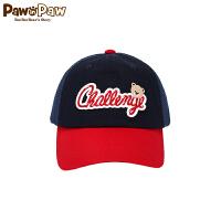 【3件4折 到手价:103】Pawinpaw卡通小熊童装男童棒球帽拼色鸭舌帽休闲帽子