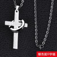 简约十字架男士项链吊坠女韩版潮人学生挂坠个性装饰品潮挂饰百搭