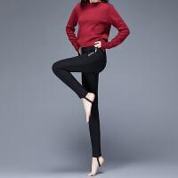 yaloo/雅鹿羽绒裤女新款高腰显瘦加厚保暖裤外穿修身冬季白鸭绒