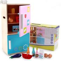 木制碗茶壶茶杯瓶电饭煲冰箱厨房厨具餐具儿童过家家玩具