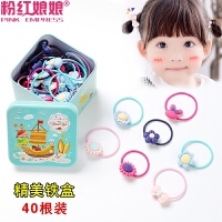 韩版宝宝橡皮筋发圈头花儿童头饰扎头发女童发饰品小女孩头绳盒装