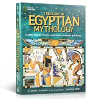 英文原版绘本 埃及神话故事 Treasury of Egyptian Mythology 全彩插画精装大开版 神话系列