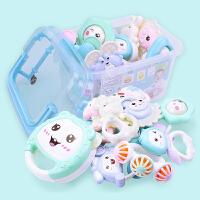 0--12个月幼儿玩具婴儿牙胶手摇铃宝宝新生儿玩具