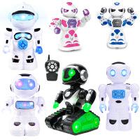 儿童万向机器人玩具男孩女孩 电动遥控早教故事机
