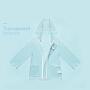 KUB可优比 外出服雨衣透明仿衣款 男童女童雨衣小童幼儿园宝宝卡通雨披防水1-3岁