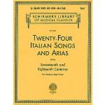 【预订】24 Italian Songs & Arias - Medium High Voice (Book Only