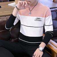 男士毛衣圆领针织打底衫春秋季休闲韩版男装套头毛线衣潮