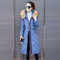长过膝棉衣女冬装加厚韩版中长款羽绒厚外套冬季女士棉袄