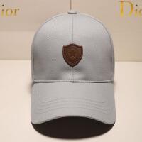 棒球帽子男潮韩版登山黑色出游户外春夏遮阳帽鸭舌帽 可调节(55~62cm)