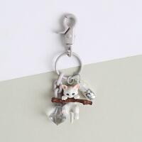 猫咪钥匙扣创意小猫女士韩国可爱挂饰汽车钥匙链圈书包挂件礼品