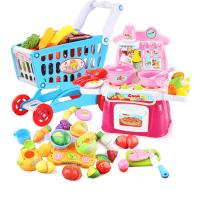 儿童超市推车过家家宝宝迷你厨房玩具套装购物车玩具女孩