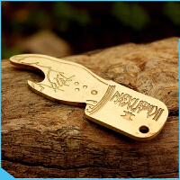 黄铜钥匙扣手工钥匙扣复古养牛钥匙扣创意黄铜手指开瓶器黄铜 手指开瓶器一个