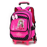 白雪公主儿童拉杆书包6-12周岁女孩小学生1-3-5年级六轮滑轮书包