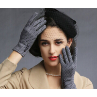 新款女士女冬分指修手可爱手套冬季保暖