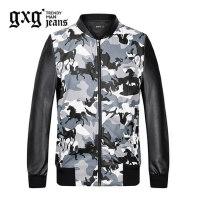 gxg.jeans男装秋季迷彩色棒球服青年修身休闲夹克外套潮63621284