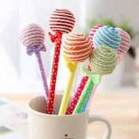 日韩文具 创意新奇文具可爱学生呆萌棒棒糖笔礼品卡通圆珠笔小学生