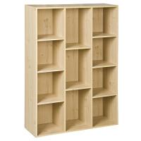 [当当自营]慧乐家 书柜书架 鲁比克十一格柜子 书橱储物柜时尚简约 白枫木色 11107-1