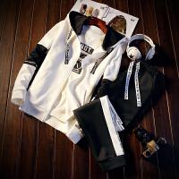 男卫衣连帽套装秋季男韩版潮流帅气外套青少年学生休闲运动一套装