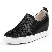 Teenmix/天美意专柜同款牛皮革/织物女单鞋AN581CM6 专柜2