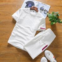 男装夏装新款短袖短裤套装男韩版时尚两件套夏季帅气夏天T恤