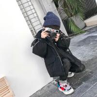 童装男童棉衣2018新款韩版冬装外套潮衣冬季加厚棉袄儿童连帽