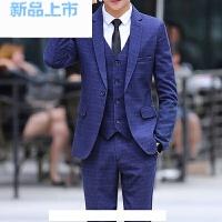 西服套装男三件套四季韩版修身小西装职业正装工作上班结婚礼服潮