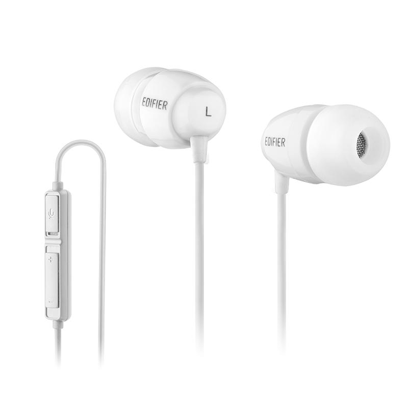 Edifier/漫步者 K210台式电脑耳机入耳式吃鸡游戏耳麦听声辩位有线控带话筒带麦语音K歌双插头2米长线耳塞