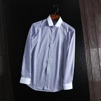 柜子剪标出品 工装衬衫男长袖春款条纹商务休闲免烫衬衫抗皱衬衣