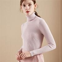 【3折到手价 59元】毛针织衫女士秋冬季新款内搭修身毛衫高领套头打底衫长袖毛衣