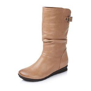 Tata/他她专柜同款油蜡羊皮女靴(绒里)FTO71RS5