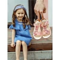 女童凉鞋新款小公主夏季宝宝沙滩鞋软底亮片儿童鞋子