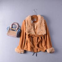 2018【1.8斤】J#30秋季毛领长袖拉链双口袋毛呢短外套