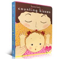 英文原版绘本纸板书Counting Kisses数亲亲Board Book美国家亲子出版物金奖卡伦卡茨Karen Ka