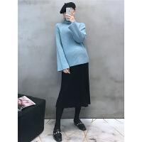 半身裙秋冬高领毛衣两件套孕妇秋冬装套装时尚款2018新款潮妈高腰