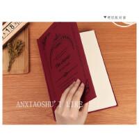 B5A4创意复古欧式笔记本文具简约加厚精装硬面抄大学生日记事本子