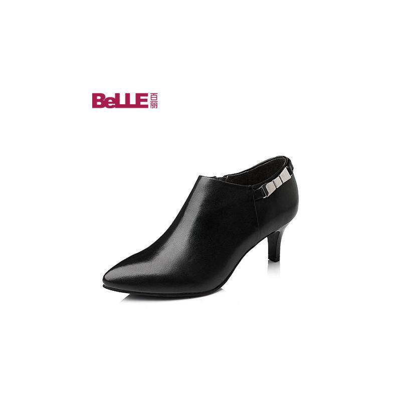 Belle/百丽 秋专柜同款小牛皮女单鞋3VDK5CM5