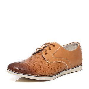 Teenmix/天美意夏季专柜同款棕色打蜡牛皮男单鞋64A07BM6