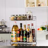 厨房置物架双层转角落地架调味用品厨房储物架调料调味瓶收纳架子