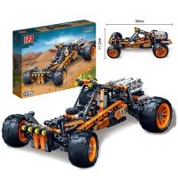 儿童玩具高科益智拼装积木玩具拼装车赛车模型炫影追风号