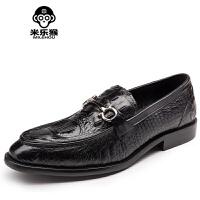 米乐猴 欧美风格鳄鱼纹男士皮鞋鞋男鞋商务休闲鞋男帆船鞋