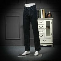 国内单 剪标牛仔裤春秋微厚磨毛商务休闲简约上班工装牛仔长裤子