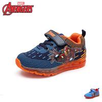 迪士尼Disney童鞋18新款儿童运动鞋漫威英雄男童学生鞋网布透气律动闪灯鞋休闲鞋 (5-10岁可选) VA3581