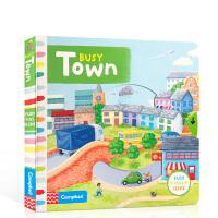 儿童绘本 Busy系列 英文原版启蒙 Busy Town 纸板机关操作活动书 边玩边学 幼儿认知启蒙学习英文版 亲子互